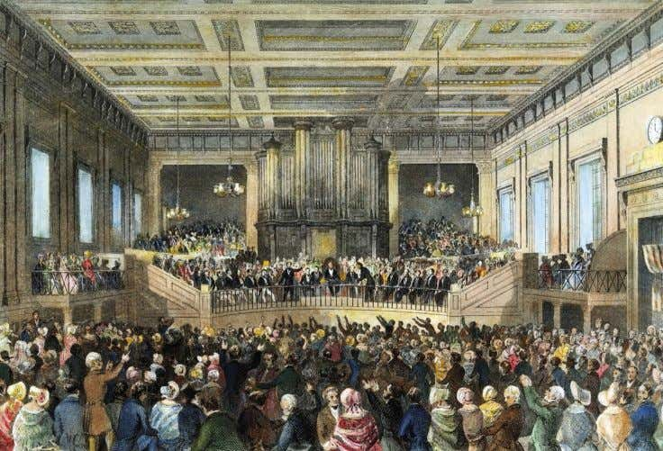 Women are banned from the rostrum at the first World AntiSlavery Convention in London, UK,
