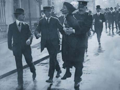"vote, the vote really was theirs."" Christabel Pankhurst Emmeline Pankhurst is arrested during a demonstration that"