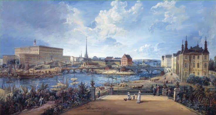 Eighteenth-century Stockholm , seen in this painting by Elias Martin (1739–1818), was a place of