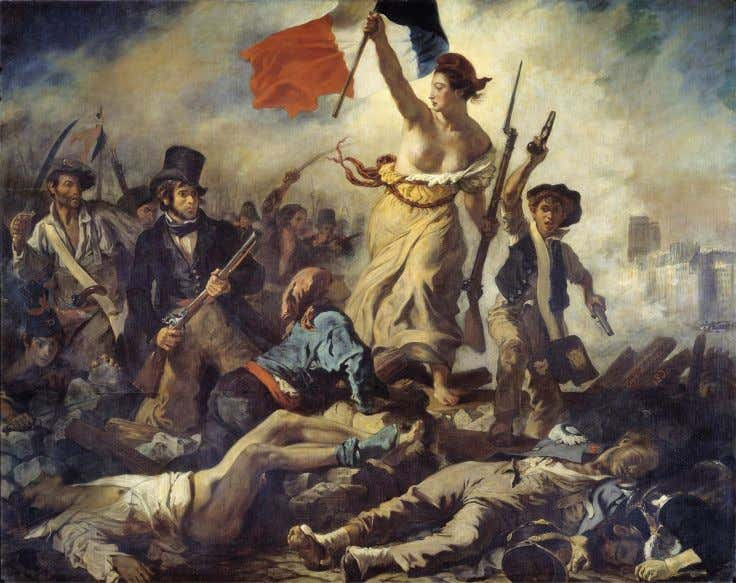 Liberty is portrayed as a woman in France, as in Eugène Delacroix's painting depicting the