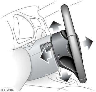 L Quick Overview Steering Column Adjustment For full details on how to adjust the steering column,