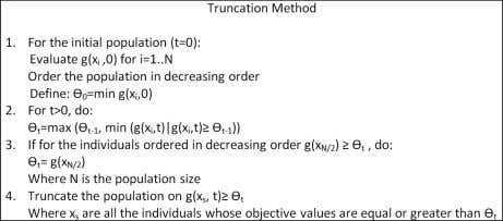 of truncation of x j represents each individual selected. Figure 5. Truncation method in the BUMDA