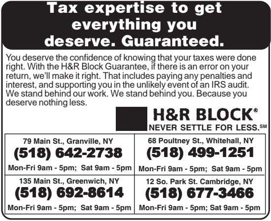 Tax expertise to get everything you deserve. Guaranteed. You deserve the confidence of knowing that your
