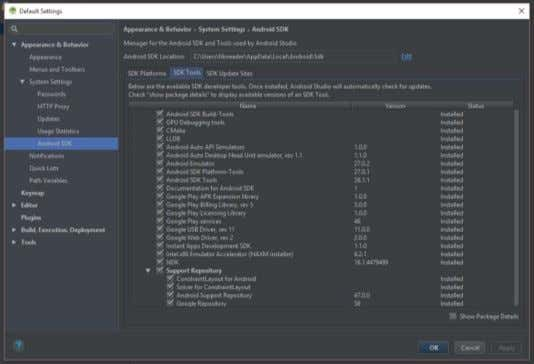 2) Gambar 7. Android SDK Manager for Windows Android Studio Android studio adalah sebuah IDE