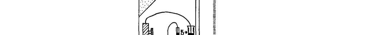 from electrostatic disturbances by the metal box, 9, and FIG. 2. The switch. 1, quartz tube;