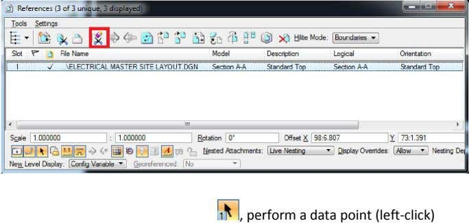 , perform a data point (left-click)