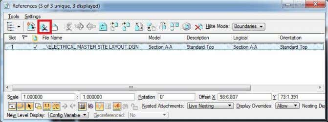 "A-A"" was chosen. command in the Reference toolbar. In The ""Set Reference Clip Boundary"" dialog box"