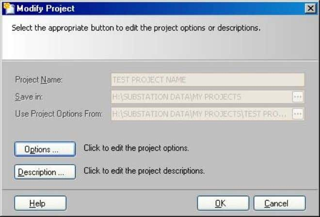 "to be modified, the ""Modify Project"" dialog box appears: Click on ""Description""  ""Business Line"" and"