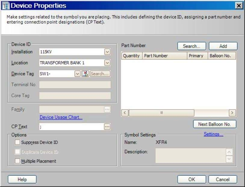 "placed down, the Device Properties dialog box will appear: "" I nstallation"", "" L ocation"", and"