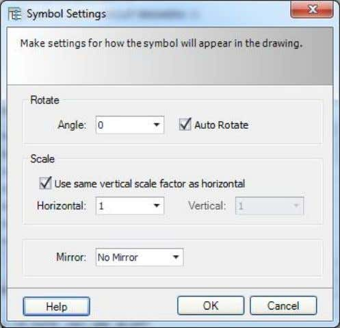 "clicking on the ""Symbol Settings"" button (near the bottom of the dialog box). Page 62 of"