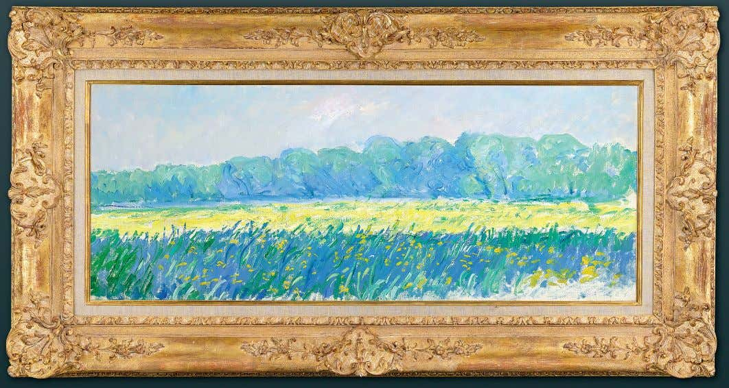 CLAUDE MONET Claude Monet Champ d'iris au matin, Giverny (Field of Irises in the Morning, Giverny)