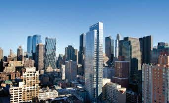 sep the LR & BR. $2M. Web #1197332. S.Song 212-434-7060 Beautifully Renovated, Sky-High 1BR. West 50th.