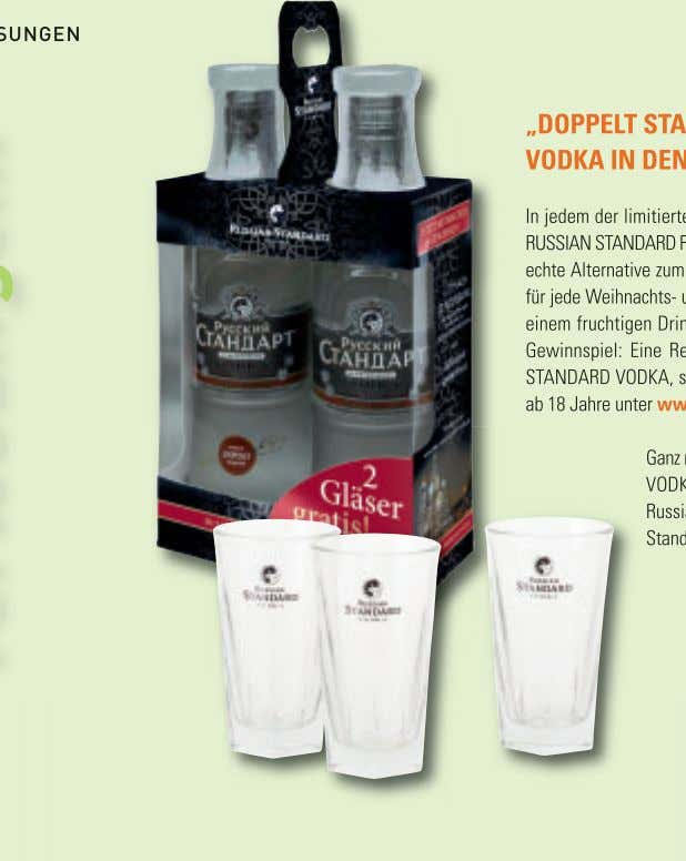"VERLOSUNGEN ""DOPPELT STARK!"" MIT RUSSIAN STANDARD VODKA IN DEN PARTY-WINTER STARTEN In jedem der limitierten"