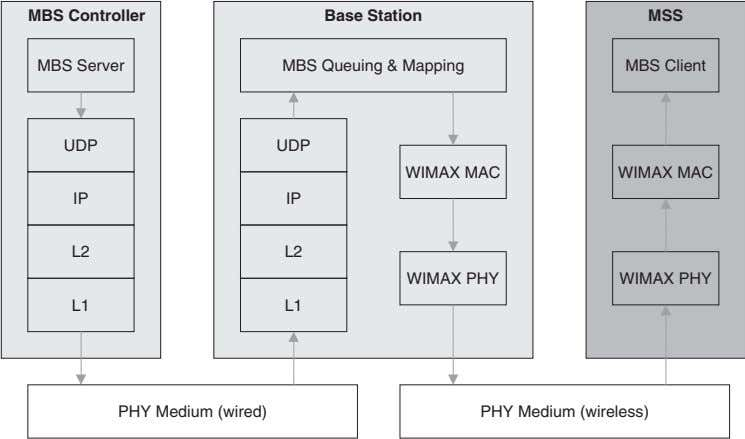 MBS Controller Base Station MSS MBS Server MBS Queuing & Mapping MBS Client UDP UDP
