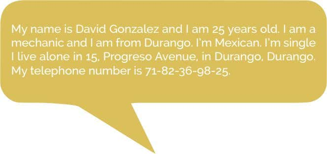 My name is David Gonzalez and I am 25 years old. I am a mechanic