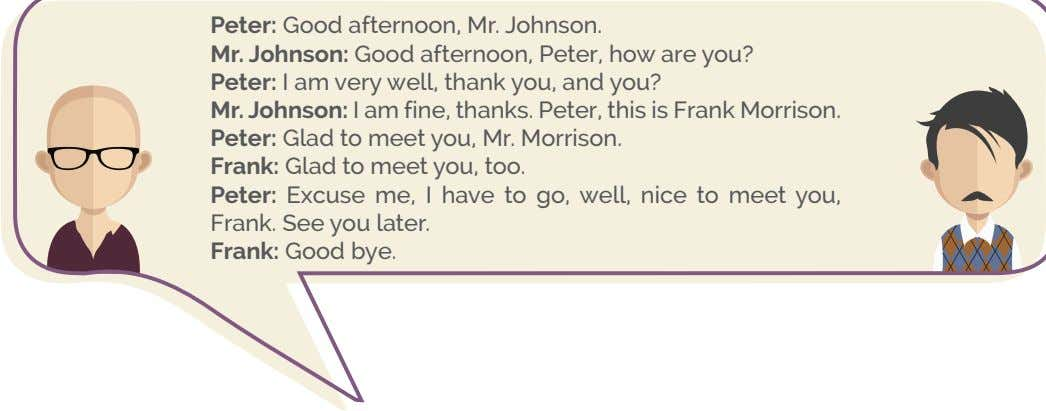 Peter: Good afternoon, Mr. Johnson. Mr. Johnson: Good afternoon, Peter, how are you? Peter: I