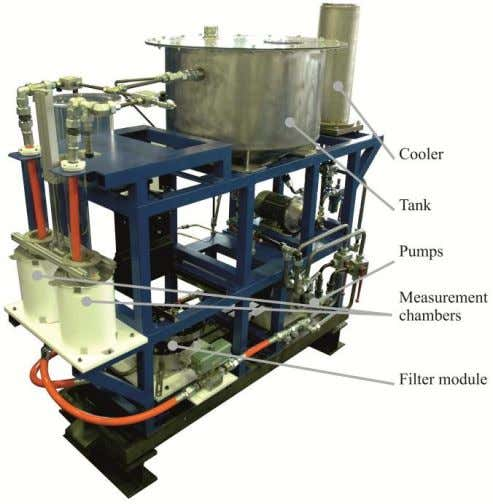 air bubbles are expected to rise faster to the surface. Figure 16: Test rig Furthermore, the