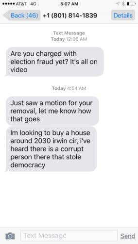 against the Nevada State Democratic Party Chair can be found here: https://goo.gl/QpHNc5 Example text messages: