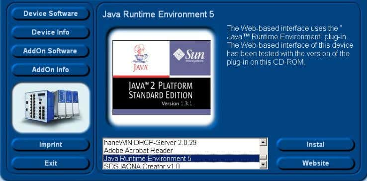 "Java Runtime Environ ment and click on ""Installation"". Figure 5: Installing Java Basic Configuration L2E Release"