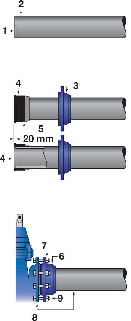 Cross-tighten to ensure that the bolts are evenly tightened. Figure 12: Diagram showing connection of non-tensile