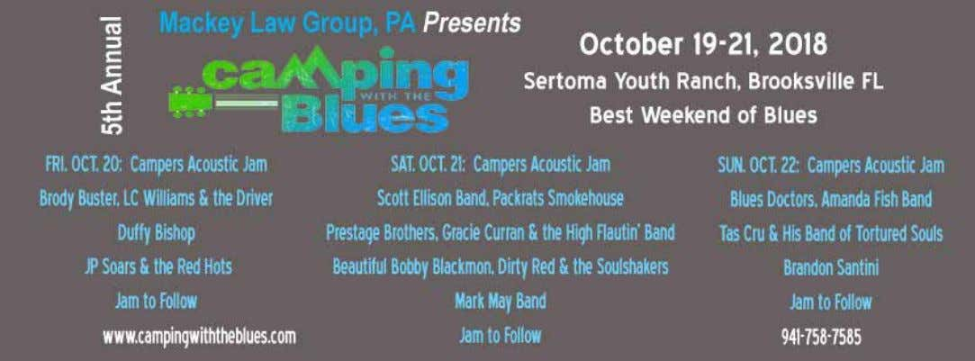 Camping With The Blues – October 19-October 21, 2018 12:15pm - Amanda Fish Band