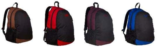: 1. Double Compartment. 2. Side mesh for water bottle and front zippered pocket. 3. Padded