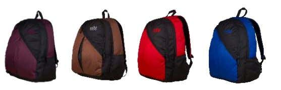 water bottle and front zippered pocket. 3. Padded shoulder straps and haul loop. MRP  Rs.