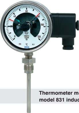 gauge model 212.20.100 with model 821 switch contact Thermometer model 55 with model 831 inductive contact