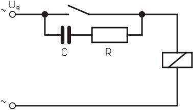 protection via a voltage dependent resistance (VDR) switch Example: Contact protection via an RC-circuit 3. Capacitive