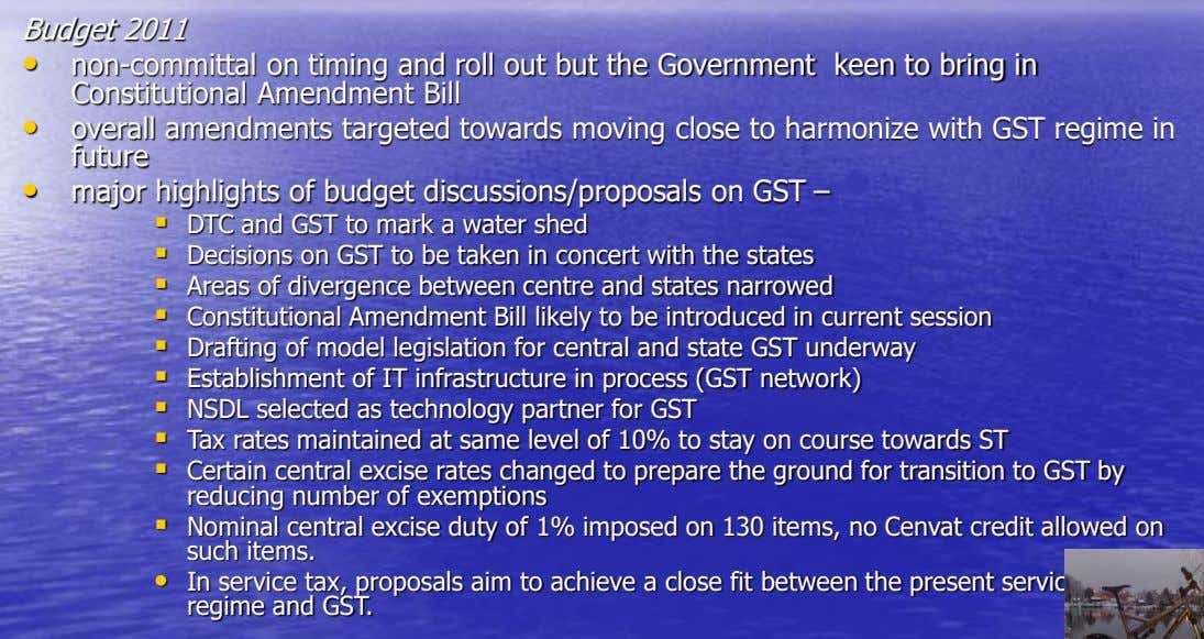 Budget 2011 • non-committal on timing and roll out but the Government keen to bring in