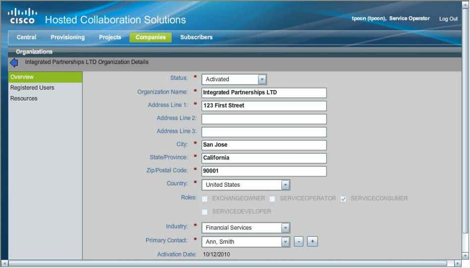 click on the organization. Figure 10 Organization Details Page Step 7 Make edits as appropriate and