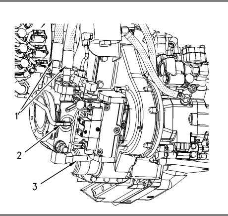 The capacity of the hydraulic system is 181.7 L (48 US gal). Illustration 1 g00873919 2.