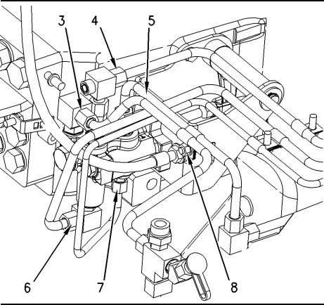 brake valve assembly (9). 2. Tighten two bolts (10). Illustration 162 g00857486 3. Connect line assemblies
