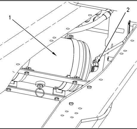 (5). 7. Connect tube assembly (4) to air tank (1). Illustration 171 g00855297 8. Connect hose