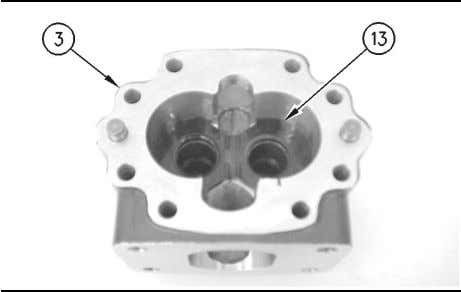 Remove the drive gear and driven gear (12) from housing (3). Illustration 182 g00746051 Note: Mark