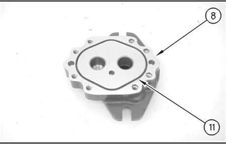 1. Use Tooling (A) and install seal (16) in end cover (8). Illustration 188 g00874348 2.