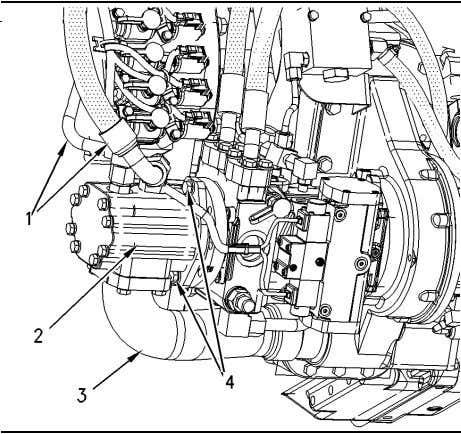 51 Disassembly and Assembly Section Illustration 199 g00873946 1. Install tandem charge pump (2). Install bolts