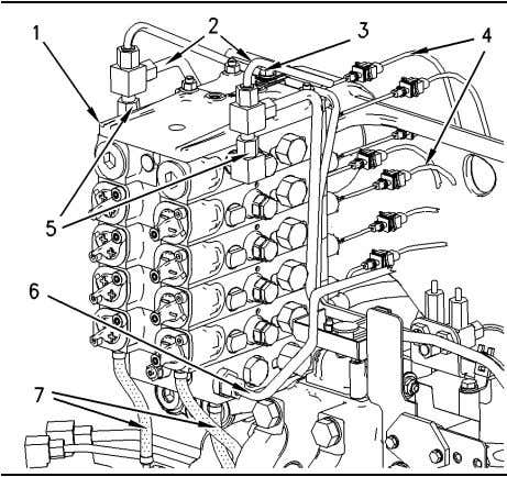 52 Disassembly and Assembly Section Illustration 200 g00868219 1. Disconnect tees (5) and tube assemblies (2)