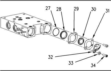 55 Disassembly and Assembly Section Illustration 213 g00746848 15. Remove bolts (34), washers (33), dust covers