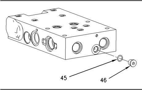 56 Disassembly and Assembly Section Illustration 219 g00746930 20. Remove plug (46). Remove O-ring seal (45)