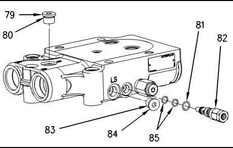 plug (73). Illustration 228 g00747371 33. Remove studs (77) from power beyond manifold (78). Illustration 229