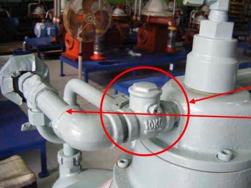 size (GH 109mm with a small hole 3.5mm) and for a crack. Check Valve (341) Circulation