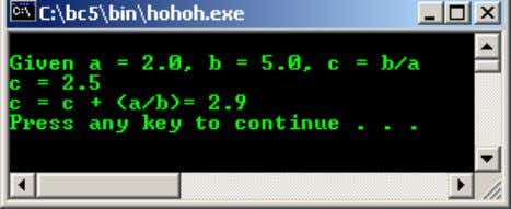 Example #6 //another mathematics calculation #include <iostream.h> #include <stdlib.h> int main(void)