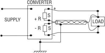 CONVERTER + S + R SUPPLY LOAD - R S