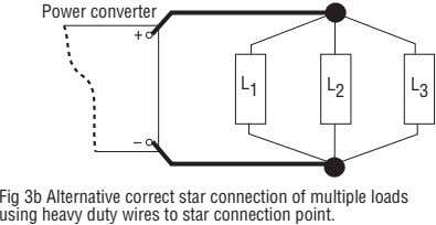Power converter + L 1 L 2 L 3 Fig 3b Alternative correct star connection