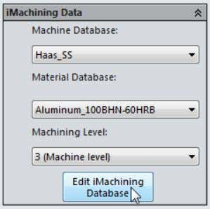 SolidCAM enables you to add new and edit existing machine and material files in the iMachining