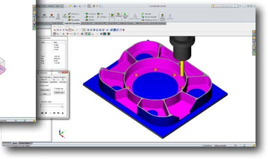 2D Example: iMachining of a Bracket This example illustrates the use of SolidCAM's iMachining technology to