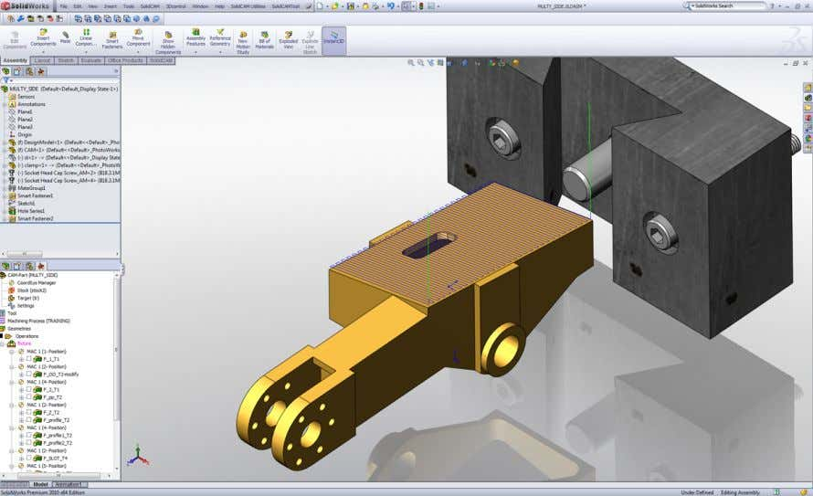 and verified, without leaving the SolidWorks window. SolidCAM is widely used in the mechanical manufacturing,