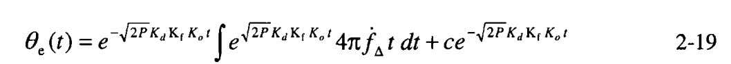 or receiver [9]. With we substitute into Equation 2-12, Since is a function of time, and