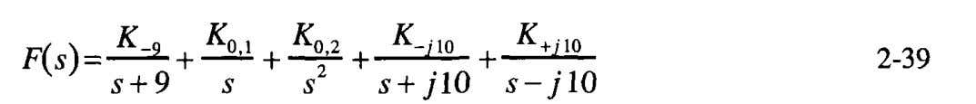 expansion of Equation 2-38 is expected to be of the form, The first numerator, 2-31, we